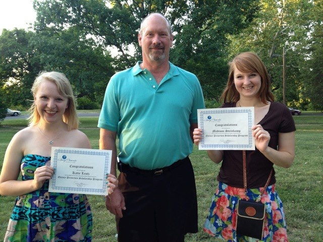 From left to right: Katie Churchill Lentz, Don Swartz-Scholarship and Membership Chair of Quincy Preserves, and Madison Steinkamp.